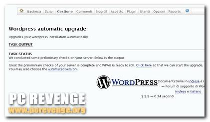 Plugins WordPress: Aggiorna automaticamente WordPress