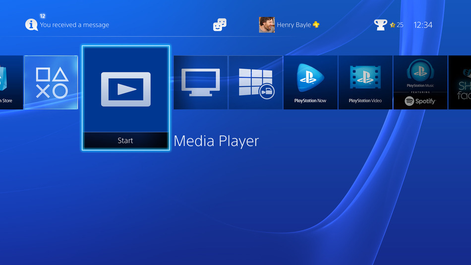 La PlayStation 4 si trasforma in un media player completo