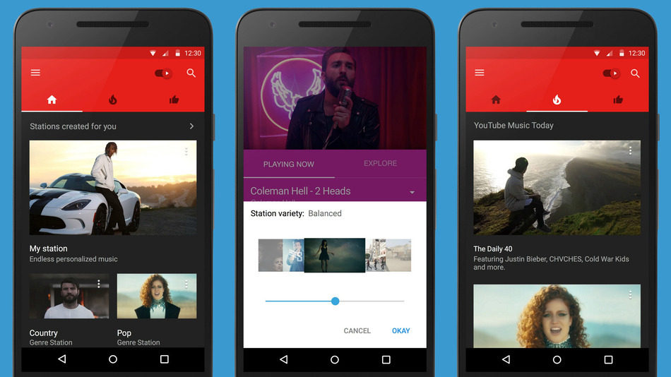 Google lancia YouTube Music, un'app di streaming musicale